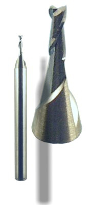 Carbide 2-flue stub end-mill for copper alloys non-ferrous metals