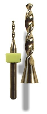 Carbide 2-flute drill bits for PCB, phenolics, composites, plastic, non-ferrous metals and all woods and wood products
