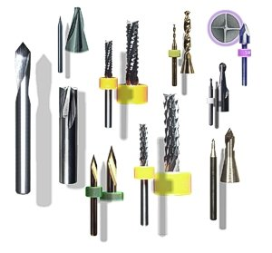 CNC composite cutting routers, end-mills and engraving tools