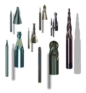 CNC metal cutting routers, end-mills and engraving tools