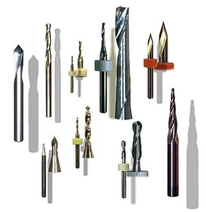 CNC plastic cutting routers, end-mills and engraving tools