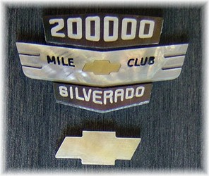 Chevy emblem pieces