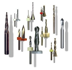 CNC woodworking routers, end-mills and engraving tools