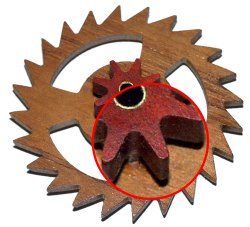 Precision wooden gears